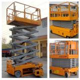 os 10m motorizaram as rodas que a movimentação Scissor o elevador automotores verticais Scissor a plataforma do elevador
