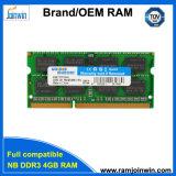 휴대용 퍼스널 컴퓨터를 위한 공장 제조자 256MB*8 16c DDR3 4GB 램 기억 장치