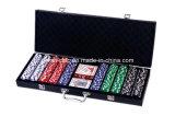 набор микросхем покера 500PCS в кожаный случае