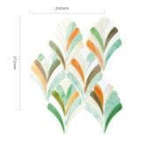 庭の葉パターンが付いている装飾によって艶をかけられるステンドグラスWindowsのモザイク・タイル