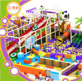 Soft Indoor Playground Fiberglass Slide EVA PVC Net Nylon