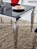 Roestvrij staal Eettafel en Stoel / Eettafel & Stoel Sj838 + Cy038