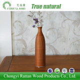 Vaso cerâmico da porcelana com o filamento de tecelagem de bambu