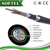 Cable de fibra óptica GYTA53 Buried directa