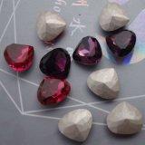 モモの中心の水晶豪華で緩い宝石類のラインストーン(DZ3015)