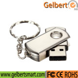 Mini memória Flash do USB 2.0 da corrente chave do giro do metal