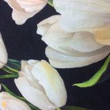 Tela impresa diseño del telar jacquar de la materia textil del hogar de la ropa de los tulipanes