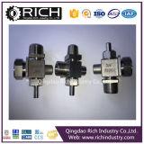 Conector de máquina de têxtil / Suporte de válvula Peças de corpo / válvula / Peças de aço inoxidável, Peças de torneamento, Peças inox Ste / Peça de máquinas / Usinagem CNC / Hardware