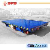 Carro plano de materiales del carril eléctrico resistente de la manipulación