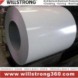 Bobine en aluminium d'enduit de PE dans la couleur blanche