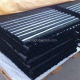 Tissu noir de couverture de maîtrise des terrains d'horizontal