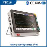 Moniteur patient portatif Ysd16 d'hôpital de la CE de multiparamètre approuvé de matériel