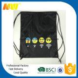 Preiswerter Polyester Emoji Drawstring-Beutel der Förderung-210d