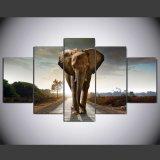 HD ha stampato la pittura stampata elefante sulla maschera Mc-095 incorniciato tela di canapa del manifesto della stampa della decorazione della tela di canapa