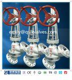 Válvula de globo manual Y-Type de Wcb para descarga de saída média de pasta Js545y