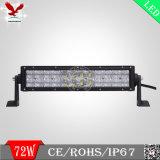 3W scheggia la barra chiara chiara della barra 13.5inch 72W LED di 5D LED per fuori strada
