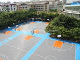 Le plancher de verrouillage de terrain de basket poreux, basket-ball d'évacuation couvre de tuiles la norme internationale
