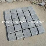 自然なG654玉石、磨かれた暗い灰色の花こう岩の私道の敷石