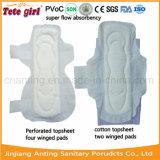 Super saugfähige Baumwollgesundheitliche Servietten 280mm, Miniauflage für Frauen