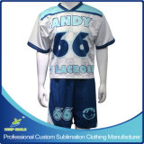 GameジャージーおよびShortのカスタムSublimation Lacrosse Sports Clothing