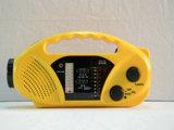 Radio solaire de dynamo de la lumière Emergency du matériau DEL d'ABS de Protable