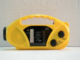 Protable 아BS 물자 LED 비상등 태양 다이너모 라디오