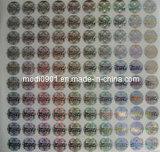 Autoadesivo olografico di alta qualità degli autoadesivi privati su ordinazione poco costosi popolari dell'ologramma