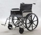 Manuel en acier, bariatrique, fauteuil roulant, double croix, (YJ-010B)