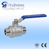 Ss industriales Thread Bsp 2PC Ball Valve con Mounted Pad