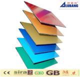 El PE compuesto de aluminio de la hoja cubierto