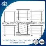 Balaustra di vetro e montaggi dell'acciaio inossidabile dello SGS