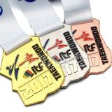 カスタム亜鉛合金の銅のブランクの金属賞のスポーツ選手権の空手の円形浮彫りのメダルおよびトロフィ