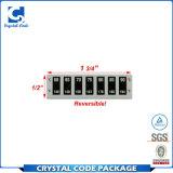 Etiqueta autoadhesiva reversible del indicador de la temperatura de la impresión de encargo