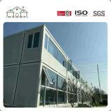 Oficina prefabricada de acero ligera de lujo de gama alta del envase de la casa