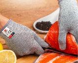 灰色のHppeの切口の抵抗線5の安全作業手袋