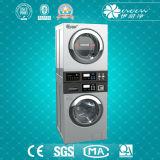 Waschmaschine des Stapel-15kg kombiniert mit trockenerer industrieller Waschmaschine