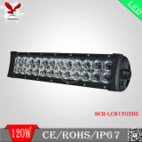barre d'éclairage LED de 6D 120W pour la jeep (IP68 4X4 outre de double Osram de route)