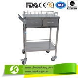 Chariot à anesthésique d'acier inoxydable de fournisseur de la Chine
