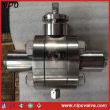 Valvola a sfera Confinare-Saldata di galleggiamento dell'acciaio inossidabile dell'estremità (Q41F)