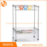 2 Baskets를 가진 취사 도구 2 Tier Chrome Steel Wire Shelving Storage Rack