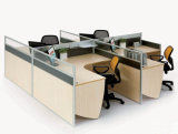Beispielhandelsgebrauch-Büro-Tisch-Partition mit Glasabstand-Wand (SZ-WST652)