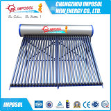 calefator de água solar da pressão Non- da câmara de ar 100L de vidro
