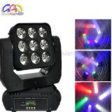 RGBW 4in1 9*12W 매트릭스 LED 이동하는 맨 위 세척 빛