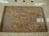 Prezzo all'ingrosso per il controsoffitto della pietra del quarzo di colore giallo della scintilla