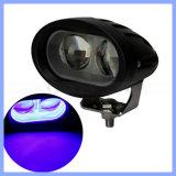4 Punkt-Arbeits-Licht des Zoll-10W 2 des Blau-LED