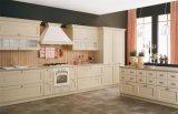台所家具の光沢度の高い食器棚