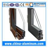 Portes en aluminium en bois de types pour le profil externe, profil en aluminium de porte coulissante