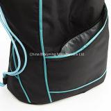 Sac promotionnel léger de sac à gymnastique de sac à dos de cordon de sac de sport