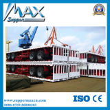 3 Radachse Flatbed Semi Trailer mit Stake