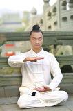 Taoism Wudang Tai Chi 고급 봄 & 여름 Flax 남자의 스포츠 사례 한 벌